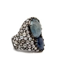 Loree Rodkin - Multicolor Pear Shaped Sapphire And Diamond Ring - Lyst