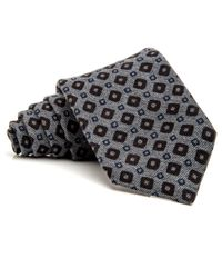 Kiton - Gray Grey With Blue Squares And Chocolate Diamonds Tie for Men - Lyst