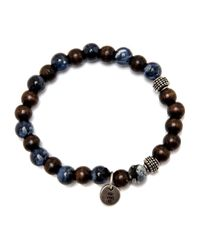 Eleventy | Blue And Brown Beaded Stretch Bracelet for Men | Lyst
