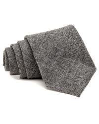 Drake's - Gray Grey Melange Woven Tie for Men - Lyst