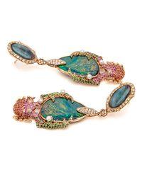 Wendy Yue Multicolor Opal Beetle Earrings
