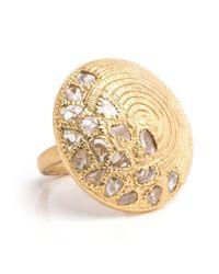 Coomi   Metallic Eternity 20k Rose Cut Diamond Santuary Ring   Lyst