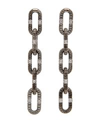Roule & Co. - Multicolor Brilliant Cut Diamond Chain Link Earrings - Lyst