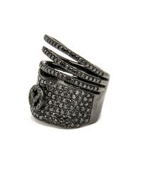 Loree Rodkin - Multicolor Triple Bar Pave Band Ring - Lyst