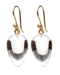 Ted Muehling - Metallic Clear Crystal Acorn Earrings - Lyst