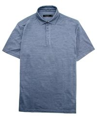 Ermenegildo Zegna - Heather Blue Jersey Knit Polo for Men - Lyst