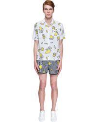 AMI - Yellow Lemons Shirt for Men - Lyst
