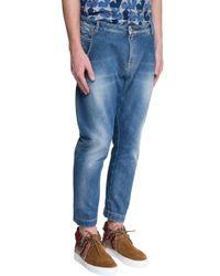 Ports 1961 - Blue Denim Trousers for Men - Lyst