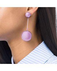 J.W.Anderson - Purple Long Earrings - Lyst