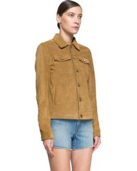 BLK DNM - Brown Suede Jacket - Lyst