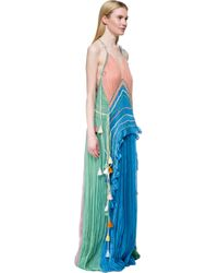 Chloé - Blue Long Dress With Tassel - Lyst