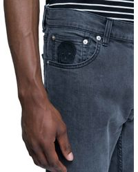 Alexander McQueen - Black Jeans Degrade On The Hem for Men - Lyst