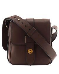Prada   Brown Leather Shoulder Bag   Lyst