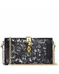 Dolce & Gabbana | Black Sequin Handbag | Lyst