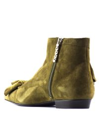 J.W.Anderson - Multicolor Ruffle Suede Ankle Boots - Lyst