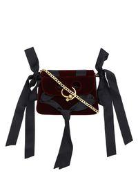 J.W. Anderson - Black Pierce Mini Velvet Bag - Lyst