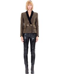 Balmain | Black Embellished Cotton Blazer | Lyst