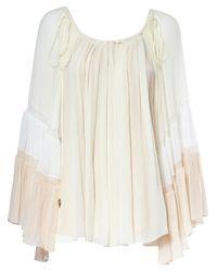 Chloé | Natural Silk Crepon Blouse | Lyst