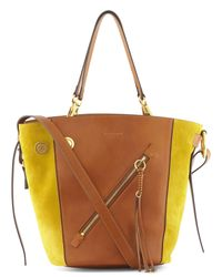 Chloé | Brown Calfskin Myer Tote Bag | Lyst
