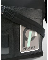 Prada - Black And Grey Technical Shoulder Bag for Men - Lyst
