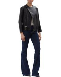Victoria, Victoria Beckham - Blue Flared Denim Jeans - Lyst