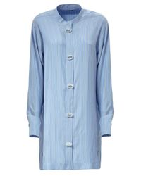 J.W. Anderson | Blue Oversize Striped Silk Dress | Lyst