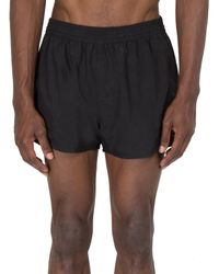 AMI | Black Heart Logo Swim Trunks for Men | Lyst
