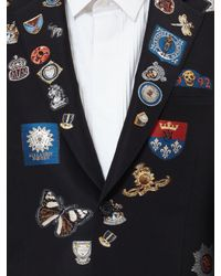 Alexander McQueen - Black Badge Appliqué Blazer for Men - Lyst
