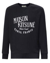 Maison Kitsuné | Black Palais Royal Sweatshirt for Men | Lyst