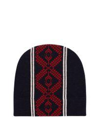 Dries Van Noten - Blue Taldon Patterned Merino Wool Beanie for Men - Lyst
