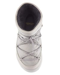 Moncler - Natural Leather And Nylon Boots - Lyst