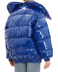 Vetements - Blue Oversized Shiny Nylon Puffer Jacket - Lyst
