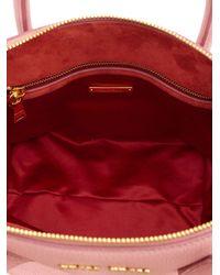 Miu Miu - Pink Small Leather Crossbody Bag - Lyst