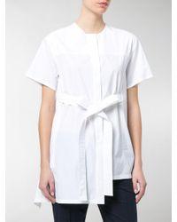 Sportmax - White Mirco Asymmetric Shirt - Lyst