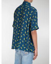Fendi - Blue Banana Print Shirt for Men - Lyst