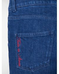 Stella McCartney - Blue All Is Love Embroidered Skinny Jeans - Lyst