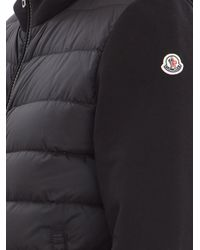 Moncler - Black Contrast Sleeve Nylon Hoodie for Men - Lyst