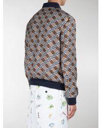 Fendi - Multicolor Check Print Reversible Bomber Jacket for Men - Lyst