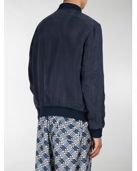 Fendi - Blue Everyday Print Reversible Bomber Jacket for Men - Lyst