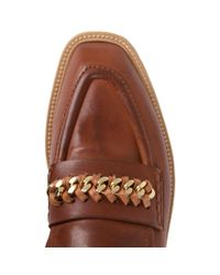 Stella McCartney | Brown Praline Chain Loafers | Lyst