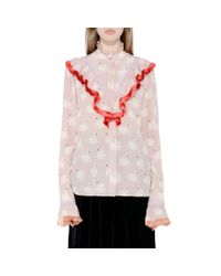 Stella McCartney - Multicolor Maia Swan Print Shirt - Lyst