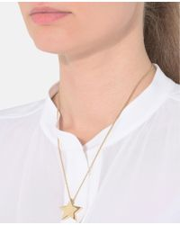 Stella McCartney | Yellow Brass Star Necklace | Lyst