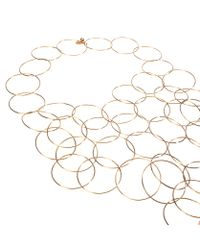 Stella McCartney - Yellow Rose Gold Brass Necklace - Lyst