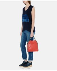 Stella McCartney - Blue Fringed Stars Boyfriend Jeans - Lyst