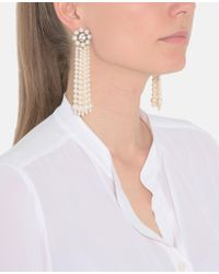 Stella McCartney - Natural Cream Rose Drop Earring - Lyst