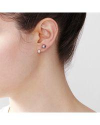 Hortense | White Majorette Earring | Lyst