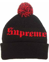 041f5fbb4c5 Lyst - Supreme Old English Beanie Black in Black for Men