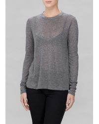 & Other Stories | Gray Perforated Wool Top | Lyst