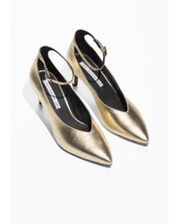 & Other Stories - Metallic Gold Ankle Strap Pumps - Lyst