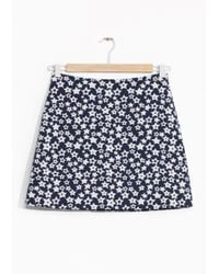 & Other Stories | Blue Starry Wool-blend Skirt | Lyst